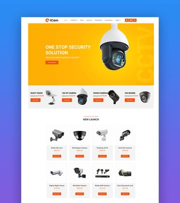 iCam  CCTV  Security  Electronics Shopify Store by designthemes on Envato Elements