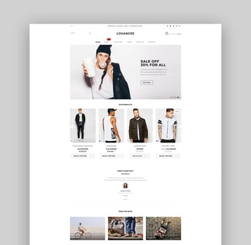 Logancee Responsive Ecommerce Shopify Template
