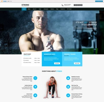 SKT Strong - Fitness WordPress Theme Free Download