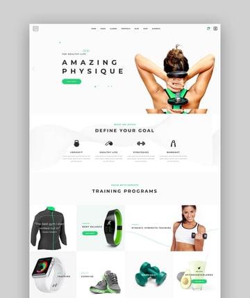 TopFit - CrossFit Fitness Trainer WordPress Theme