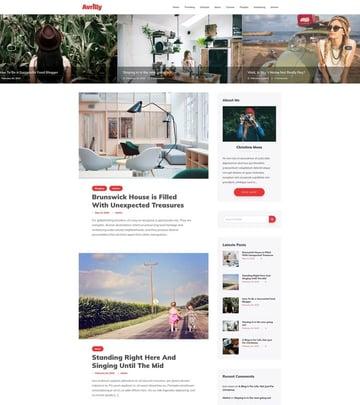 Avrilly - Free WordPress Family Blog Theme
