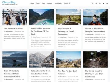 Cherry Blog - Free WordPress Family Blog Theme