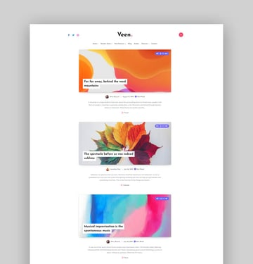 Veen - Minimal  Lightweight Blog for WordPress