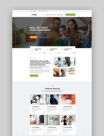 Teknik - Home Security Agency WordPress Theme