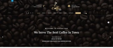 Cafe Coffee Shop - WordPress theme