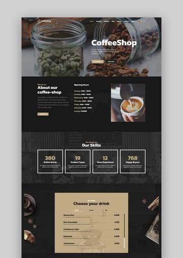 CoffeeKing - Coffee Shop  Drinks Online Store WordPress Theme