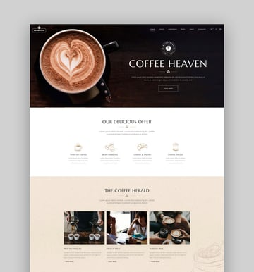 Corretto - A Theme for Coffee Shops and Cafs