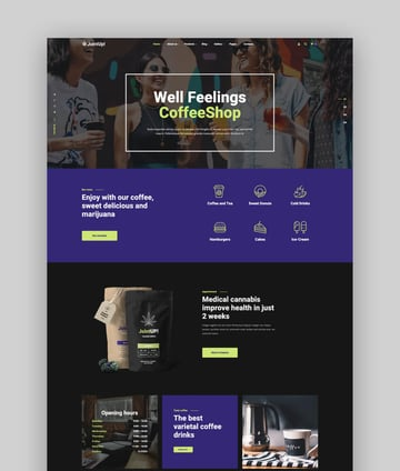 JointUp - Medical Marijuana and Coffeeshop WordPress Theme