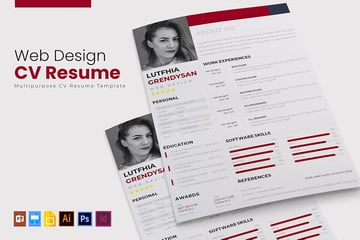 Web Design Resume Template With Skills Section