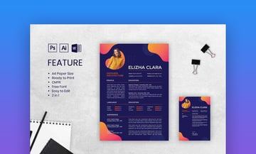 Colorful And Creative CV Resume