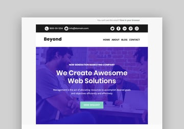 Beyond - Mailchimp Responsive Email Template