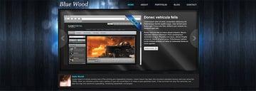 Blue Wood Free Website Template