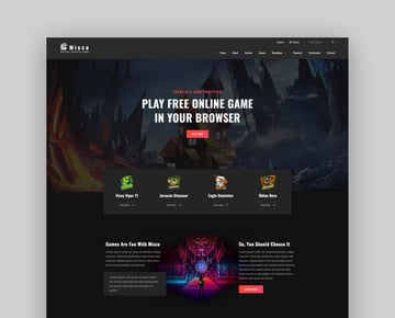 Miscoo - HTML Video Game Template