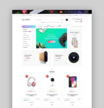 E-come  Multi-Purpose Shopify Theme for Electronics Store