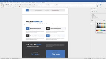 Changing the colors in the Brief Proposal template