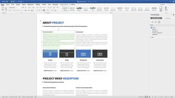 Adding content to the Brief Proposal template