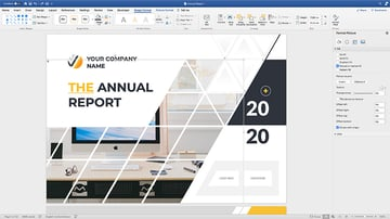 Customizing the cover for the annual report template