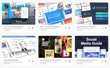 social media marketing powerpoint templates on Envato Elements