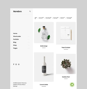 Norebro - Creative Portfolio WordPress Theme