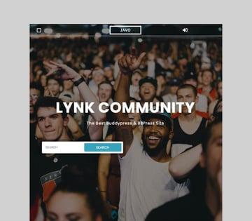 Lynk - Social Networking and Community WordPress Theme