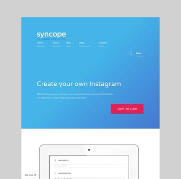Syncope - Photo Sharing Community WordPress Theme