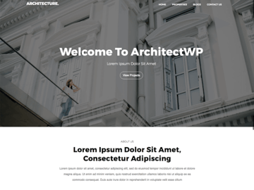 architectwp - Free Single Property Website Template
