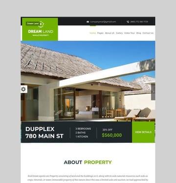 DREAM LAND - Single Property Real Estate WordPress Theme