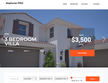 Neptune Real Estate - Theme for Single Property Websites