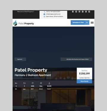 PatelProperty - WordPress Theme for Single Property