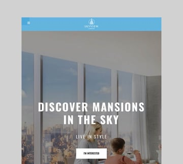 Skyview Complex - One Page Single Property Theme