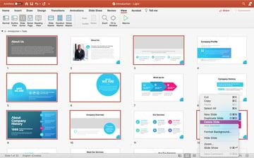 Choosing your slides