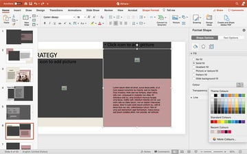 Customizing colors in PPT