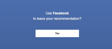 Using Facebook to leave a review