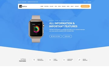 Ex Watch landing page template