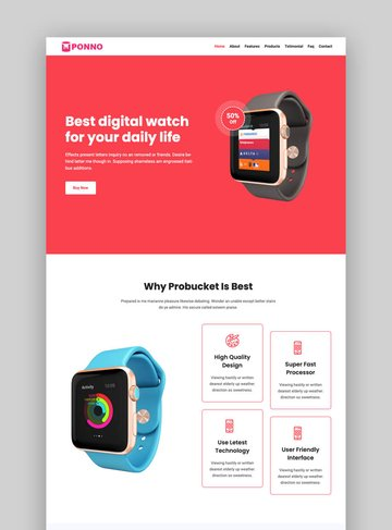 Ponno Bold product landing page