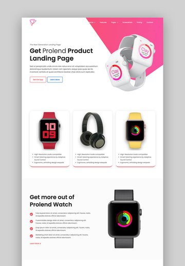 Prolend clean landing page template
