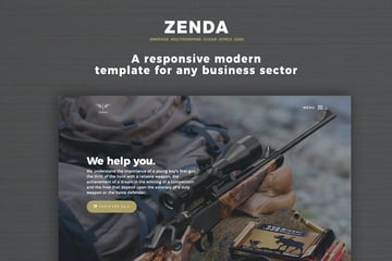 Zenda Product Landing Page Template