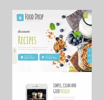 Food Drop meal ordering delivery theme