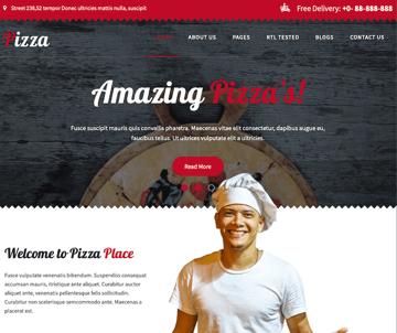 Pizza Lite delivery WordPress theme