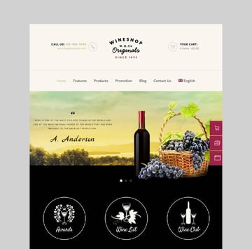WineShop food and wine delivery theme