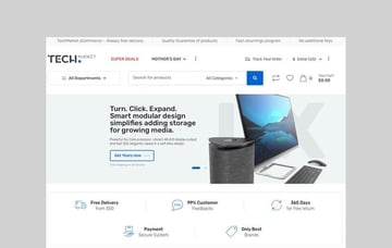 Techmarket Electronics drop shipping WooCommerce theme