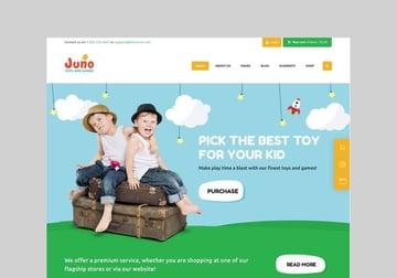 juno kids toy store wordpress theme
