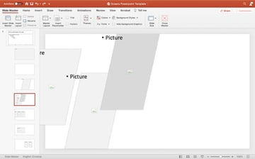 Editing master slides