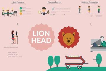 Lionhead PPT template
