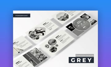 grey minimal powerpoint template