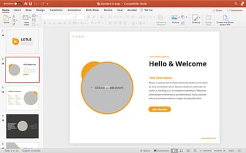 Lotus PPT template