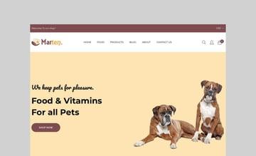 Marten - Pet Shop Shopify Theme