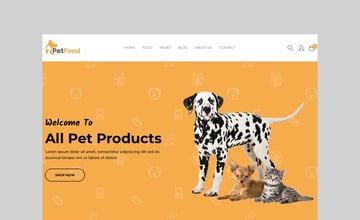 PetFood - Pet Care and Pet Sitter Shopify Theme