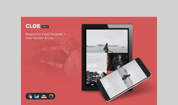Cloe - Responsive E-mail Template + Builder Access by theemon