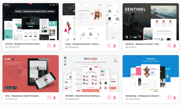 email templates on Envato Elements